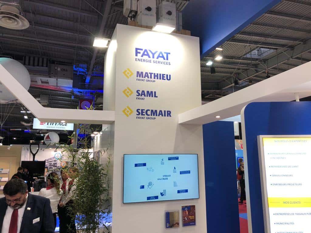 Le stand de Fayat Energie à l'Espace Collectivités