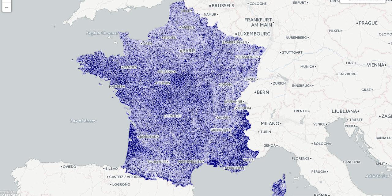 La couverture internet de la France