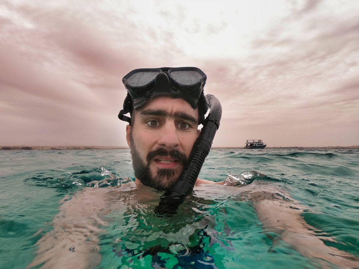 barbe dans l'eau